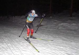 Auf der zweiten Runde des Jizerský Night-Line-Marathon