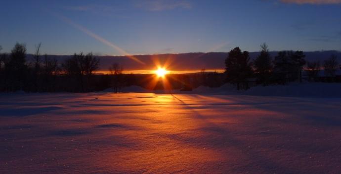 Solnedgang...