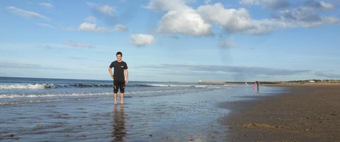 Hva fins da bedre en å kose seg på stranda når man har treningsfri på ettermiddagen